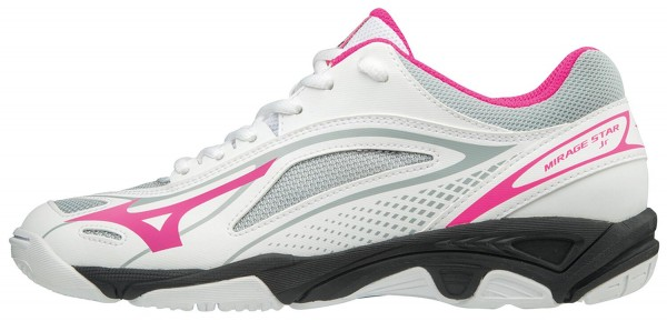 Mizuno Wave Mirage Star 2 Jr weiß pink